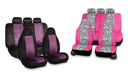 Animal-Print Velour Seat Covers