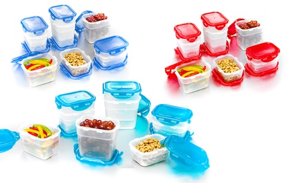 18-Piece Set of Nestable Lock & Lock Food-Storage Containers