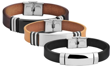 Akzent Leder-Armband für Herren im Modell und in der Farbe nach Wahl (Koln)