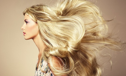 Haircut with Optional Color, Partial Highlights, or Brazilian Blowout from Amy Knight at Salon J (Up to 64% Off)