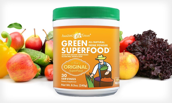Amazing Grass SuperFood Drink Powder: $19.99 for Amazing Grass Green SuperFood Drink Powder ($29.99 List Price). Free Shipping.