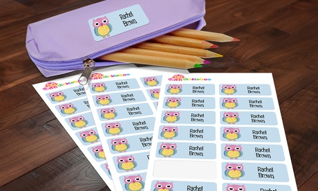 Personalized Children's Name Label 48- or 96-Pack from Dinkleboo (Up to 77% Off)