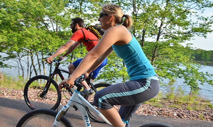 All-Day Pocono Biking Excursion - Clinton: $75 for a Pocono Biking Excursion Including Bike and Helmet Rental, Lunch, and Transportation ($99 Value)