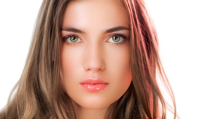 Lets Talk Makeup Salon & Spa - El Cid Park: Blo Dry, Brow and Lip Wax, Palm Beach Mani-Pedi, or All Three at Lets Talk Makeup Salon & Spa (Up to 55% Off)