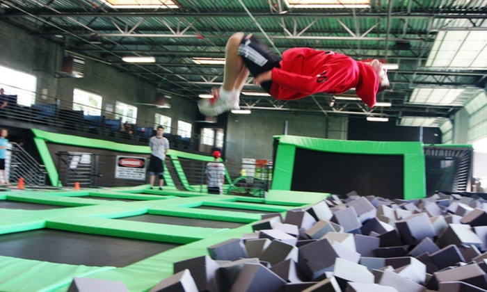 Absolute Air Park - Arlington: Two Hours of Trampoline-Park Open-Jump Time for One or Two at Absolute Air Park (Up to 48% Off)