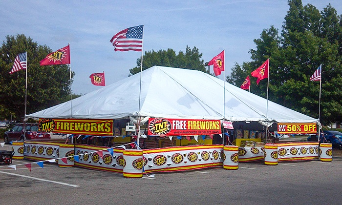 TNT Fireworks - Multiple Locations: $10 for $20 Worth of Fireworks at TNT Fireworks Stands & Tents