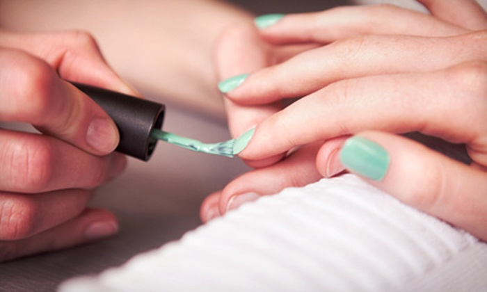 Chop Shop Salon - Bakersfield: One Regular or Gelish Manicure at Chop Shop Salon (Up to 60% Off)