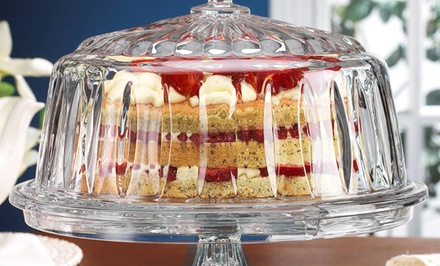Godinger Stratford 4-in-1 Cake Plate | Brought to You by ideel