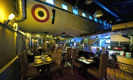 Menu romantico di mare con vino in sala Jungle o a bordo aereo per 2 persone da Ristoaereo (sconto fino a 15%)