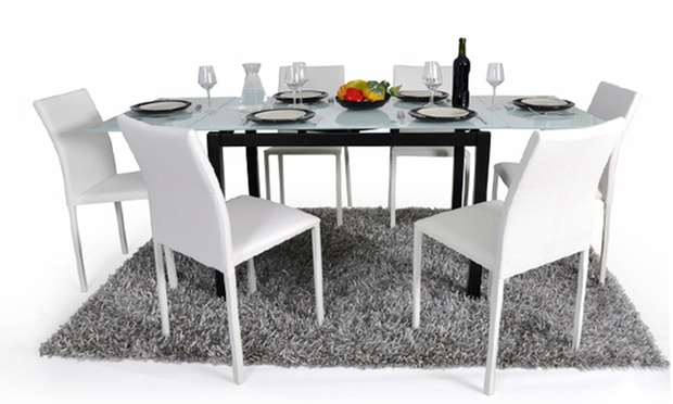 table ou console extensible chaises groupon shopping. Black Bedroom Furniture Sets. Home Design Ideas