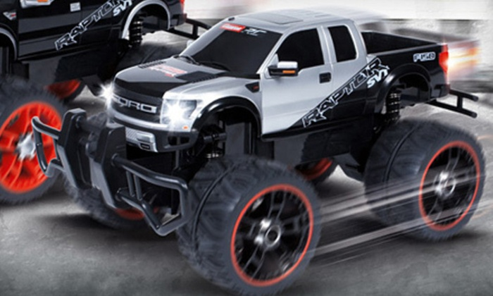 Ford F-150 Raptor RC Truck: $35 for a Ford F-150 Raptor RC Truck in Blue or Silver ($111.99 List Price). Free Shipping.