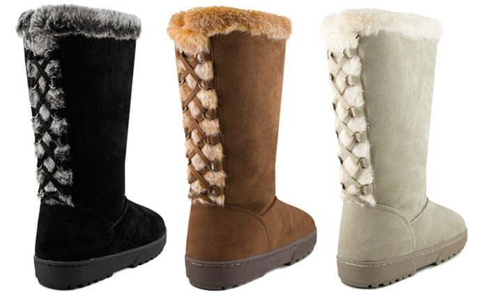 143 Girl Women's Faux-Fur-Trimmed Boots: 143 Girl Women's Faux-Fur-Trimmed Boots. Multiple Colors Available. Free Shipping and Returns.
