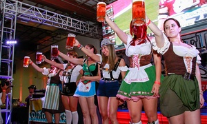 Sam Adams Octoberfest: Mug, Hat, and Beer Package for One, Two, Four, or Six People at Sam Adams Octoberfest on October 1-4 (58% Off)
