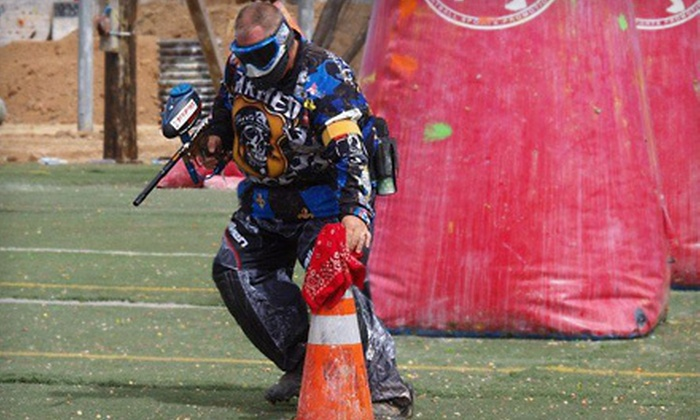 Antioch Paintball Park - Antioch Fairgrounds: Half-Day Paintball Package with Gear and 500 Paintballs for Two or Four at Antioch Paintball Park (Up to 55% Off)