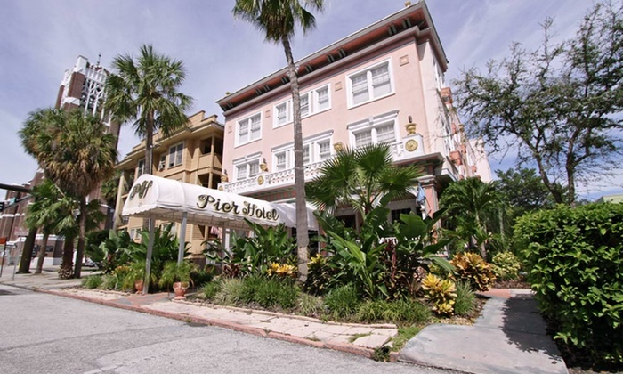 null - Gainesville: Stay at The Pier Hotel in St. Petersburg, FL. Dates Available into February.
