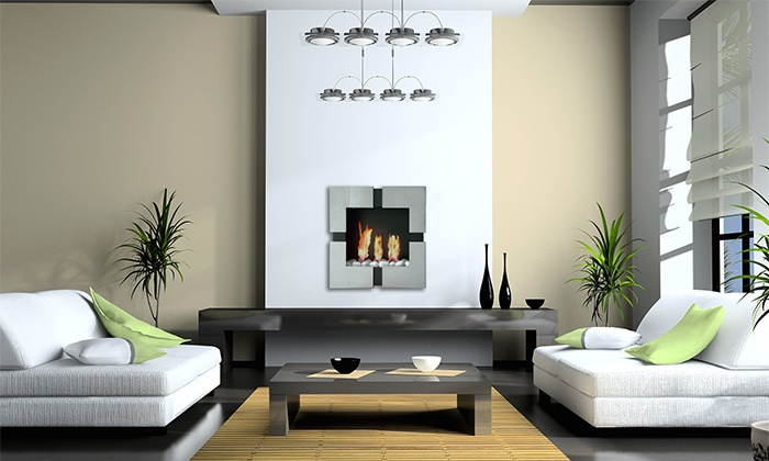 ModFlame - Brampton: Wall-Mounted or Freestanding Fireplaces from ModFlame (50% Off). Four Options Available.