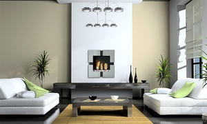 ModFlame: Wall-Mounted or Freestanding Fireplaces from ModFlame (50% Off). Four Options Available.