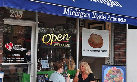 $9 for Three Groupons, Each Good for $6 Worth of Pasties and Ice Cream at Heart of Michigan ($18 Value)
