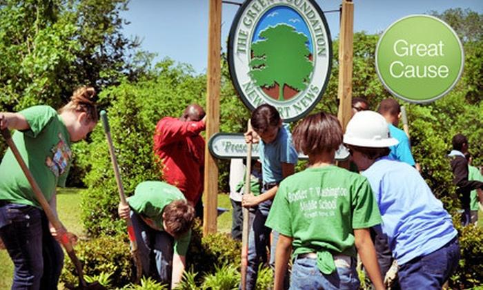 Newport News Green Foundation - Hampton Roads: $10 Donation to Help Revitalize a Vacant Lot
