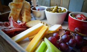 Bar Brig: Sharing Platter with Wine for Two or Four at Bar Brig (Up to 62% Off)