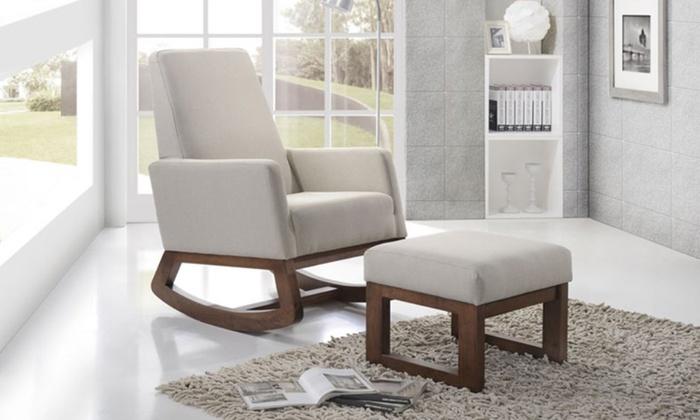 Crawley Rocking Chair And Ottoman Set Groupon