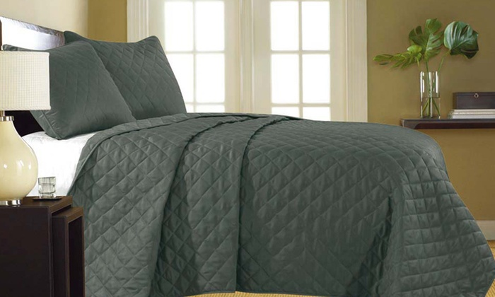 Essentially Home Living 3-Piece Quilted-Coverlet Sets: Essentially Home Living 3-Piece Quilted-Coverlet Sets. Multiple Styles Available. Free Shipping and Returns.