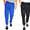 Men's Fleece Joggers with Horizontal Pattern