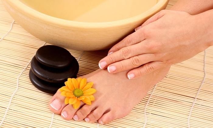 4D Nails - Mirador Estates: $25 for a Manicure and Deluxe Pedicure at 4D Nails ($51 Value)