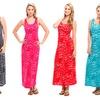 Cheetah-Print Racerback Maxi Dress