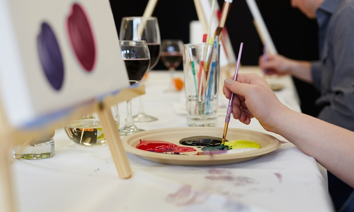 The Art Room - The Art Room: Group Painting Party with Wine and Cheese for One, Two, or Four at The Art Room (Up to 51% Off)