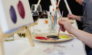 The Art Room: Group Painting Party with Wine and Cheese for One, Two, or Four at The Art Room (Up to 42% Off)