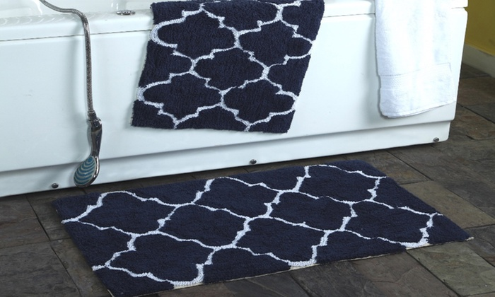 Clearance Moroccan Trellis Cotton Bath Rug Set 2 Pack Groupon