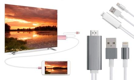 1 o 2 adaptadores de conector Lightning a HDMI para iPhone/iPad