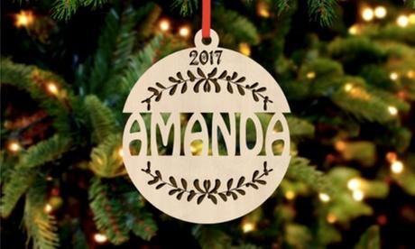 1, 2 o 3 adornos navideños personalizados de madera o acrílico en Cabany Co