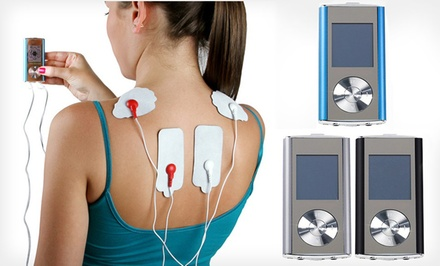 8-Mode Digital Pulse Massager in Blue, Black, or Silver with or without Combo Set. Free Returns.