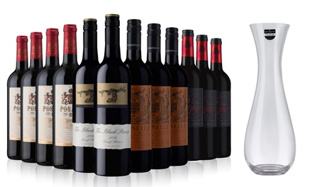 Sunday Times Wine Club: 12 Bottles of Red Wine Plus a Dartington Decanter for £59.99 With Free Delivery (56% Off)