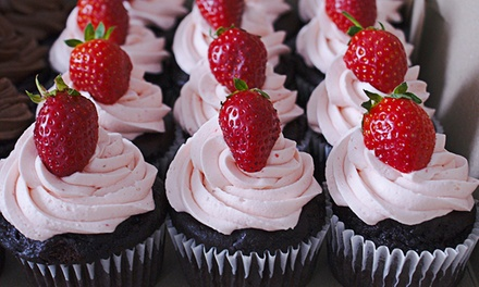 6 or 12 PreSorted Vegan, GlutenFree Cupcakes at Strawberry Blonde Bakery (Up to 54% Off)