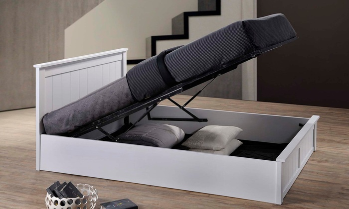 Wooden Ottoman Storage Bed Groupon Goods