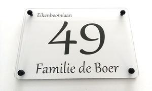 Sprookjesatelier: Plaque de maison personnalisée chez Sprookjesatelier dès 13,99€ (jusqu'à 60% de réduction)