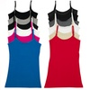 6-Pack of Women's Cotton Lycra Cami Tank With Shelf Bra