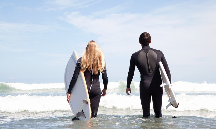 Surfin Fire Surf School - Multiple Locations: Two-Hour Group Surf Lesson for One, Two, or Three at Surfin Fire Surf School (Up to 45% Off)