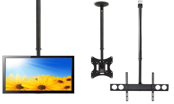 "Universal Tilt Ceiling Mount with Adjustable Height for Up to 70"" TVs"