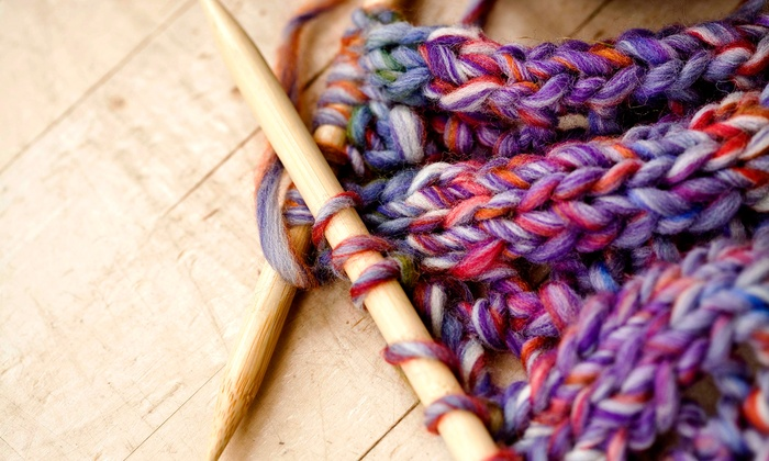 The Flaming Ice Cube - Boardman: Knitting 101 Class for One, Two, or Four at The Flaming Ice Cube (Up to 66% Off)