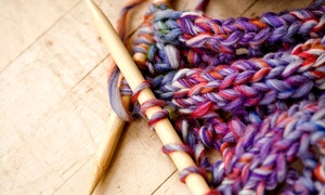 The Flaming Ice Cube: Knitting 101 Class for One, Two, or Four at The Flaming Ice Cube (Up to 61% Off)