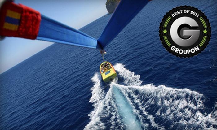 Destin Parasailing - Destin Harbor: $35 for One Seat in a Tandem Parasailing Adventure at Destin Parasailing (Up to $85 Value)