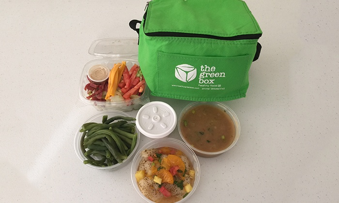 The Green Box - The Green Box: $49.99 for One Week of Healthy Lunch, Dinner, and Snacks Delivered from The Green Box ($110 Value)
