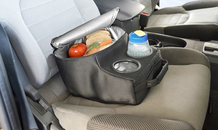 Body Glove Insulated Car Seat Console Cooler with Cup Holders