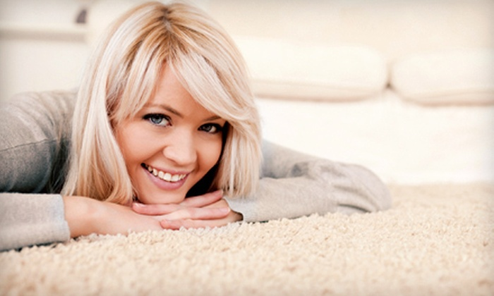 Helping Hands Cleaning Service - Greenville: Carpet Cleaning for Three or Five Rooms or Upholstery Cleaning from Helping Hands Cleaning Service (Up to 58% Off)