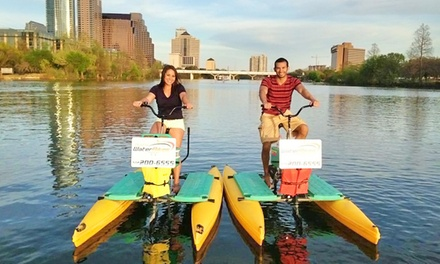 $33 for Sunset and Bat-Watching Water Bike Rental for 2 from Austin Water Bikes ($50 Value)