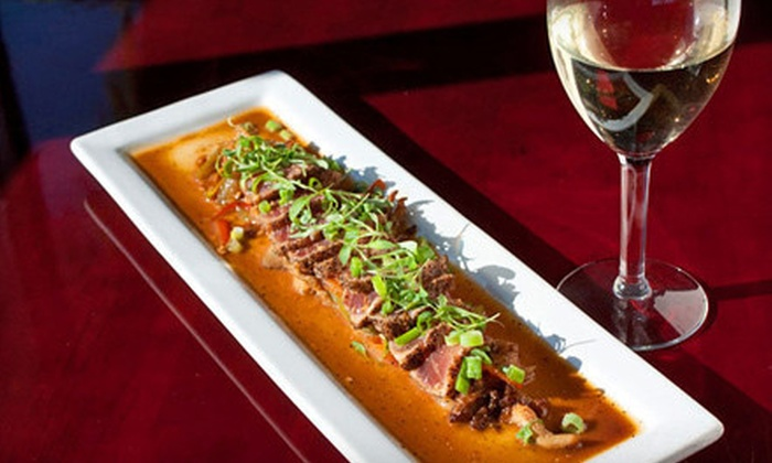 The Gaslamp Restaurant & Bar - Marina Pacifica: New American Food and Drinks for Two or Four at The Gaslamp Restaurant & Bar (Up to 51% Off)